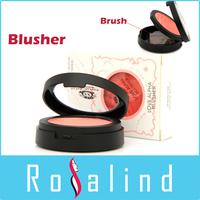 Rosalind Soft Pressed Natural Face Blush Powder Blusher Palette Makeup with Mirror Brush