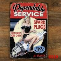 Depandable Service Retro Poster ART Metal Craft Retro Home Pub Metal Plaque Decoration F-76 Mix order 20*30 CM