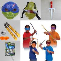 2015 New TMNT Teenage Mutant Ninja Turtles Weapons Toys Ninja Turtles Weapons Equipment Maks PVC Suit Toys Movie Toys Kids Gifts