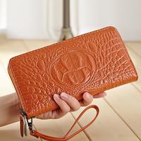 2015 New Arrival  Women's  Purse Genuine Leather Geometric Wallet  Ladies Wrist Clutch Bag A539