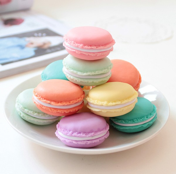 6pcs Candy Color Mini Macaron Gift Box Jewelry Ring Carrying Case Sundries Storage Boxes porta joias Pill Organzier(China (Mainland))