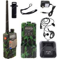 Pofung UV-5RA VHF/UHF Dual Band 3800mAh Extended Battery FM Two Way Radio  Green LB0583