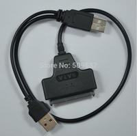1Pcs USB 2.0 to SATA 7+15 Pin 22Pin Adapter Cable For 2.5 Drop Shipping
