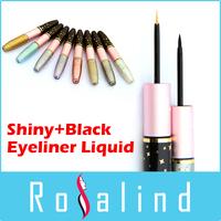 Rosalind 2015 New Fashion Makeup Double Dead Glitter Shine Eyeliner Liquid and Black Eyeliner Waterproof