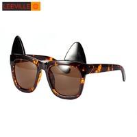 New 2015 removable cat ears sunglasses cute sunglasses WLJ6360