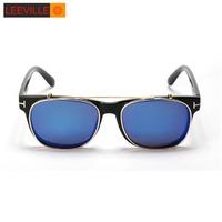 New 2015 double flip vintage sunglasses men and women sunglasses oculos de sol  WLJ4309