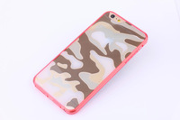 "10pcs/lot New Camouflage PC cover+colorful TPU case cover for iphone 6 4.7"", Free shipping"