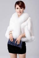Fur fox fur rex rabbit hair fur coat short design women's cape cloak