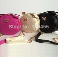 New Women Round Messenger Bag Chain Women Crossbody Shoulder Bag Bow Satchels Tote Purse Women Composite Bags