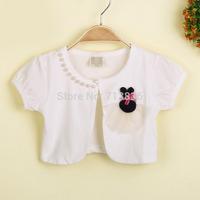 Girls new summer PEARLS short sleeve vests wholesale children bigger size clothing  AA406CN-31FB
