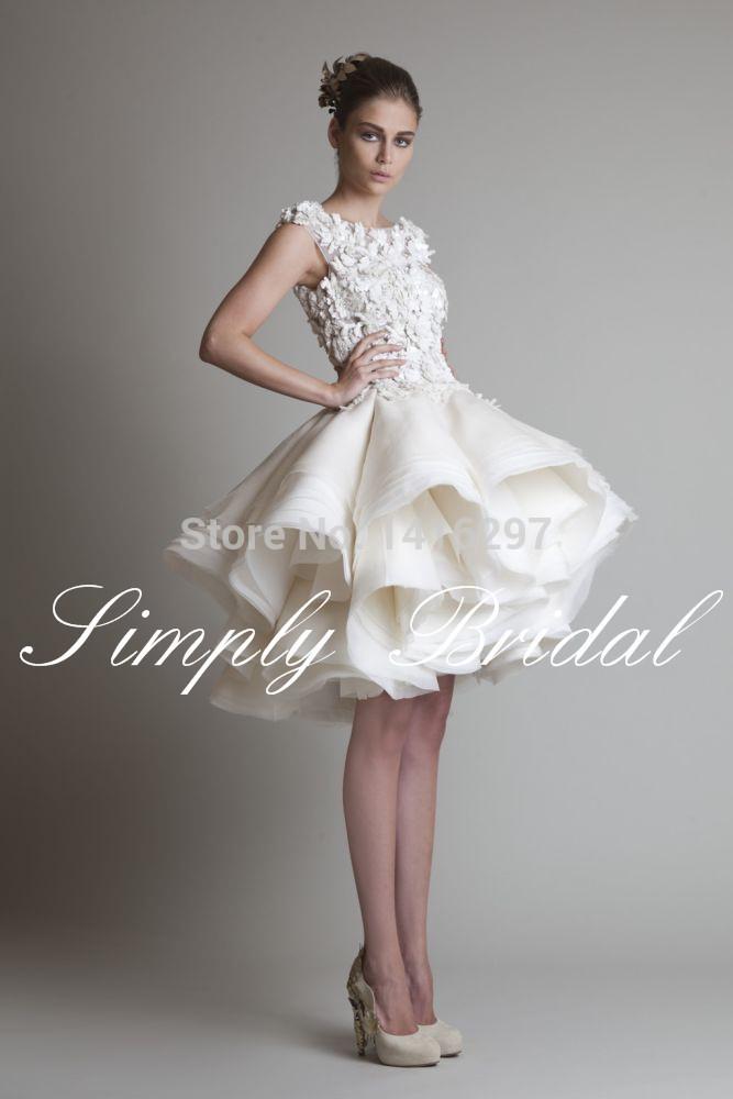 Nouveau style hmss genou, 2015, mini robes de bal de demoiselle d'honneur de atigrada vestidos festa haute appliques de dentelle robes de bal