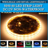 LED strip 5050 12V flexible light 60 leds/m,5m/lot 300LED Warm White,White,Blue,Green,Red,Yellow,RGB