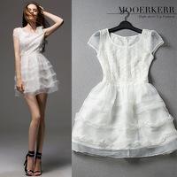 Vestido De Renda Vestidos Femininos Mooerkerr Spring And Summer Fashion Dress Hem Stitching Puff Playing Strip Ali Wholesale