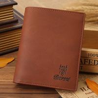 NEW Arrival Brand Nubuck Leather men's wallet  Vintage cowhide purse Super soft short wallet card purse Free shipping