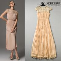 2015 Women Dress Clearance Rebate Does Not Change The Atmosphere Of High-end European  Fan Heavy Crimp Goddess Dress