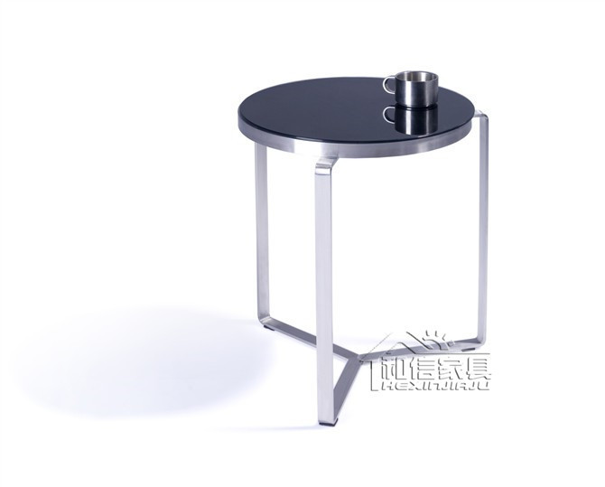 Post Modern Black Glass Corner A Few Simple Small Round Coffee Table