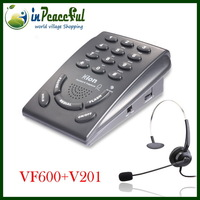 Features enhanced Edition Call center telephones / headset telephones with RJ9 / RJ11 / 3.5mm Jack and one pices headset
