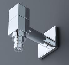 G1/2 high quality brass square washing machine faucet tap Bibcocks torneira maquina de lavar parede(China (Mainland))