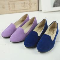 Women Shoes 2015 Fashion Candy Color Round Toe Women's Singles Flats ShoesFree Shipping G4