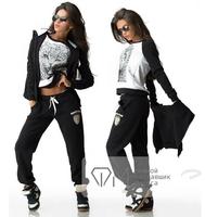 Fashion Suit 2014 New Winter tops+pants+vest Warm Suit Women Sport Suit Sportswear Tripleset Sweatshirt Set Women Hoodies V7399