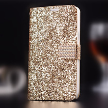 New Rhinestone Phone Cases For Samsung Galaxy Note 2 N7100 Leather Cover Case Wallet Style Fashion Capa For Galaxy Note II Cover(China (Mainland))