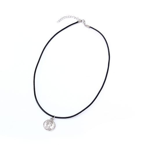 New Tibetan Silver Pendant Necklace Choker Charm Black Leather Cord Factory Price Handmade Jewlery 191151 191169