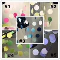 Paper Circle 5pcs/Lot Decoration Wedding Banner Wedding Decoration Wedding Decoration Props Colorful