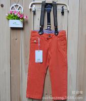 QT54 orange red color new 2015 brand kids pants children clothing 2-8 age boys pants free shipping 5pcs/ lot
