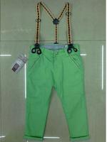 QT93-2 new 2015 green color boys overalls 2-8 age harem pants kids boys pants free shipping 5pcs/ lot