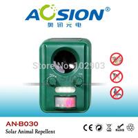 Aosion Outdoor garden use Waterproof Solar ultrasonic animal dog cat bird repeller repellent chaser AN-B030