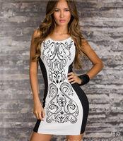 New arrival special price 2015 summer contrast color sleeveless women A-line dress slim all-match lady girls vestidos femininos