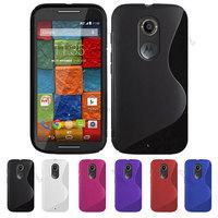 2 pcs x For Motorola Moto X 2. Gen X+1  S Line TPU GEL Case Cover