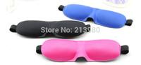 Free shipping 500pcs 3D eye Sleeping Mask cotton Blindfold Soft Eye Shade Nap Cover Blindfold Sleeping Travel Rest mix colors