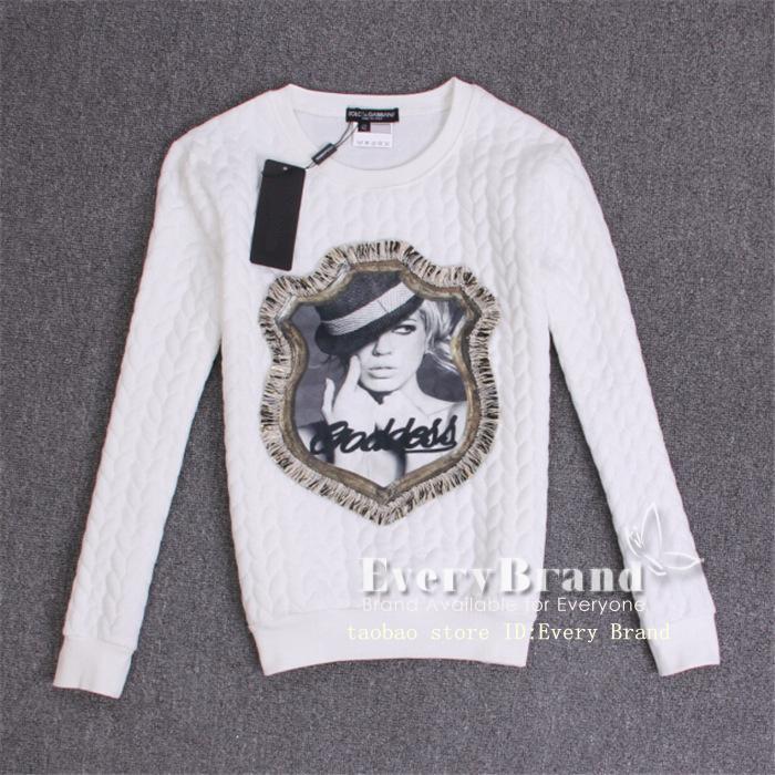 Spring 2015 fashion women's casual wear 3 d printing cotton Sweatshirts coat clothes free shipping!(China (Mainland))