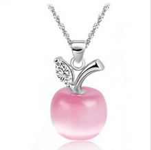 Collier Jewelry Necklaces 2015 new arrival hot sale Fashion Accesories Opals Small for apple Pendant Necklace