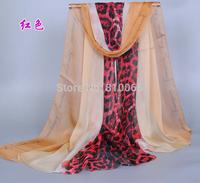 2015 fashion sexy female leopard velvet chiffon georgette shawl scarf The Korean wind break women leopard long silk scarf