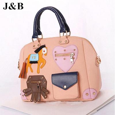 J&B 2015 Women Messenger Bags Casual Leather Handbag Female Shoulder Bag Elegant Bags Bolsas Femininas Free Shipping YYJ1149(China (Mainland))