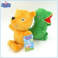 2 pcs/lot Peppa Bear& GEORGE Dinosaur 19cm Peppa Pig Plush Doll Stuffed Classic Toys Toy