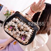 Vintage Women Handbag Shoulder Bags New Rivet Women Cosmetic Bags Chain Ladies Satchels Girls Clutch Purse Tote