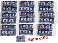 Non-OEM 100 x 6mm  P-touch Laminating Compatible TZ tape Discount pack any color