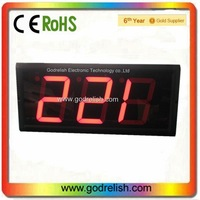 4 inch 7-segment red led display clock high quality indoor 3 digits remote led countdown timer