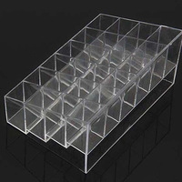 New 24 Trapezoid Makeup Display Lipstick Stand Case Cosmetic Organizer Holder