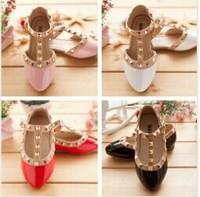 summer children girls baby kids sandals Princess Shoe leather shoes tendon end rivet children pointed Latin dance shoes