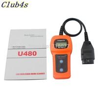 Promotion U480 OBD2 OBDII DC 12V Car/Truck AUTO Diagnostic Engine Scanner ms code reader for car fault code reader Free shipping