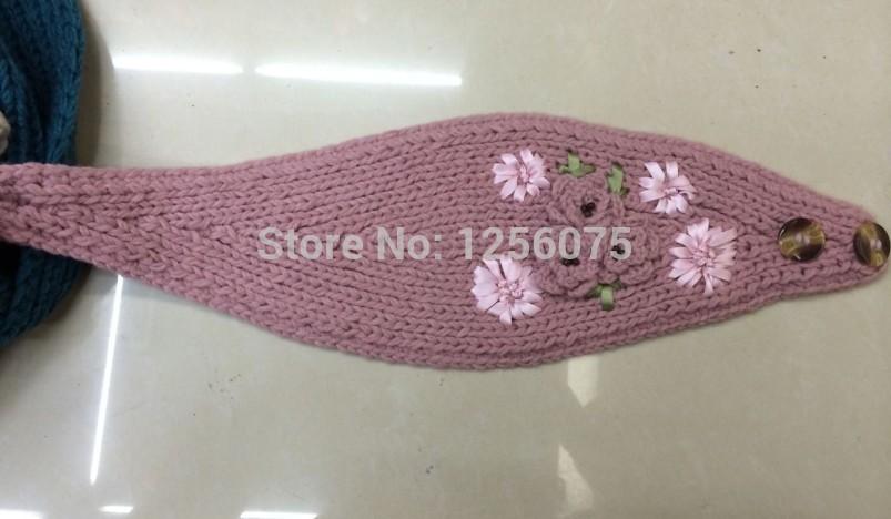 2015 NEW Womens Charm Flower Knitted Headband Head Wear Crochet Headwrap Warm Winter Ear Warmer Wholesale 100pcs/Lot(China (Mainland))