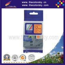 (TZe-B31) 2pcs FLUORESCENT BLACK ON ORANGE label tape cartridge for brother P-touch TZe-B31 TZ-B31 1/2″  (12mm) free shipping