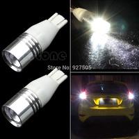 B39 2015-hot-selling 2x Super T15 7W Cree Q5 168 194 Wedge White Car Backup Reverse LED Light Bulb free shipping
