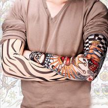 2015 Fashion 6 Pcs/lot Men fashion Rock Punk Style Temporary Fake Slip On Tattoo Arm Sleeves Kit Sleeves pinarello Jason0491(China (Mainland))