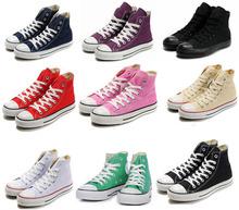 Мужчина и женщина брезент обувь белый высокая стиль свободного покроя все стиль для star кроссовки