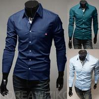 Free Shipping High-Quality Cotton Long-Sleeved Shirt Men'S Fashion Casual Plaid Shirt Pocket Design Size M-XXL